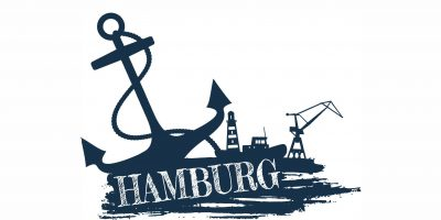 Anker mit Hamburg