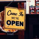Schild Come In - we're open